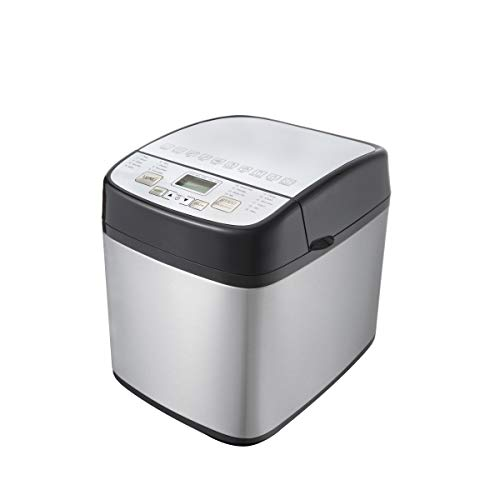 Sybo BM8601 Stainless Steel Bread Machine, 1.5 LB 19-in-1...