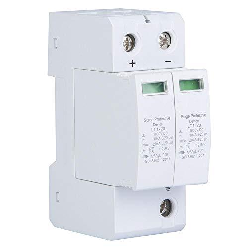 Dispositivo de protección contra sobretensiones 2P Pararrayos de baja tensión DC fotovoltaicos ignífugos(2P20KA)
