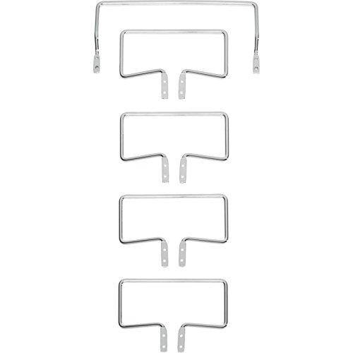 Tempur Matratzenhalter Satz C 3000 für freistehende Systemrahmen, Metall, Chrom, One Size