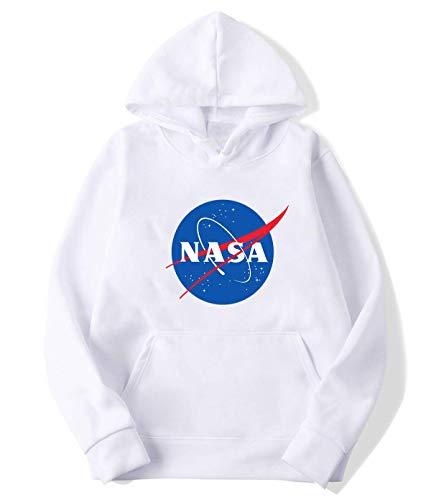 xiaoyunmeirong NASA Hoodies Sweater for Mens White L