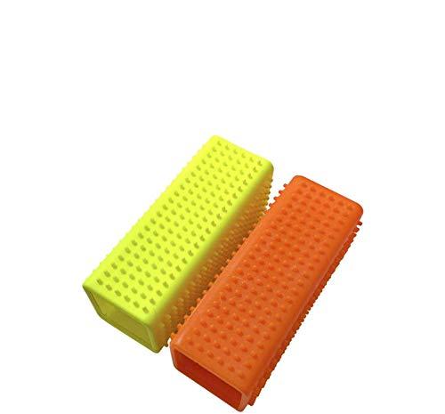 USAMS Tierhaarentferner, Gummibürste für Sofa, Möbel, Kleidung, Teppiche & Polster (Orange + Gelb, 2 Pack)