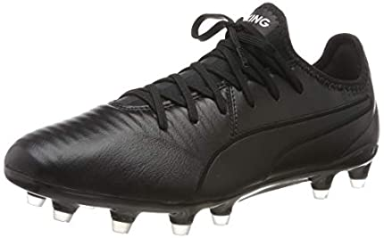 PUMA King Pro FG, Zapatillas de Fútbol Unisex Adulto, Black White, 42 EU