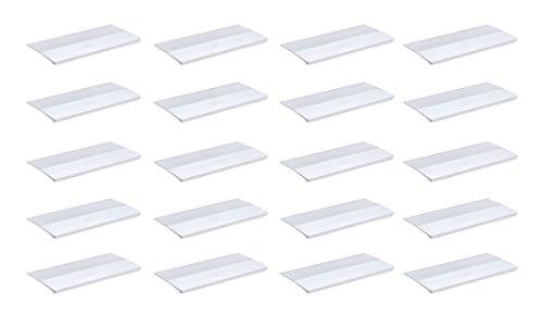 Emuca 9162162 Griffe zum Ankleben für Möbelstück, Länge 62mm, Aluminium, Matt eloxiert, 20 Stück