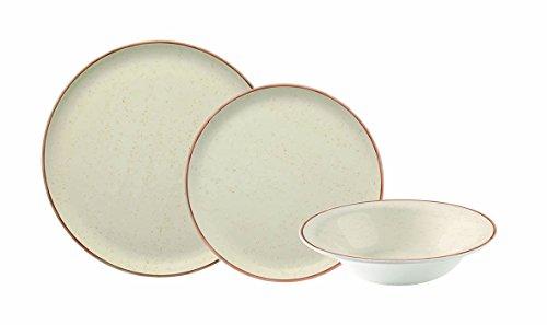 Corona Vajilla, Porcelana, Beige, 23x29x30 cm, 18 Unidades
