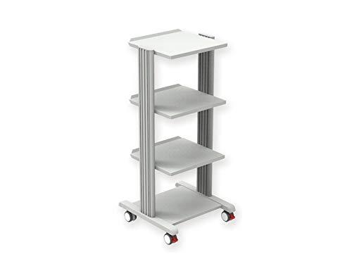 Carrello Trolley Smart 4, in alluminio e acciaio 3 Ripiani 50 x 50cm , h 96 cm