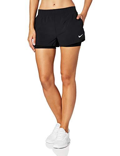 Nike Damen W NKCT FLEX Shorts, Schwarz (Black/White), Gr. L