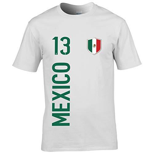 FanShirts4u Herren Fan-Shirt Jersey Trikot - MEXIKO/Mexico - T-Shirt inkl. Druck Wunschname & Nummer WM (3XL, Mexico/weiß)