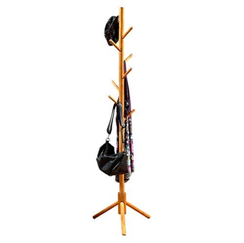 Cintres porte-manteaux Porte-manteau présentoir en forme d'arbre en bambou debout avec crochets et pieds solides pour foulards et chapeaux -/ (Couleur : Naturel)