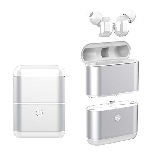 OYSOHE TWS Auriculares Bluetooth Auriculares 5.0 Auriculares Deportivos Mini Auriculares Auriculares (Plata)