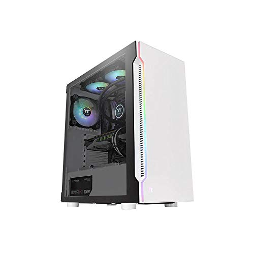 Thermaltake H200 TG Snow RGB ATX Mid Tower Chassis