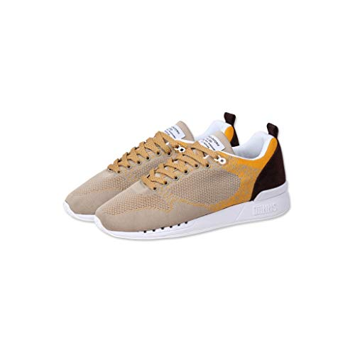 Djinns - Easy Run Younameknit Herren Sneaker Low-Top Schuhe (beige/Mustard), EU 40