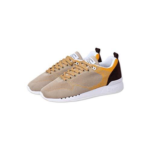 Djinns - Easy Run Younameknit Herren Sneaker Low-Top Schuhe (beige/Mustard), EU 42
