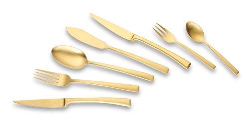 Echtwerk Tafelbesteck Avelino 42 teilig, Edelstahl, Gold mattiert 24,5 x 34,5 x 6,5 cm, Einheiten