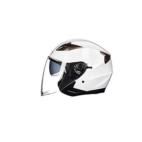 Ballylelly Casco Abierto de Motocicleta Moto Ciclomotor Jet Bobber Pil