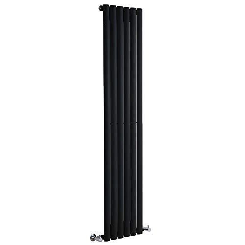 Milano Radiador de Diseño Revive Vertical - Negro - 841W - 1600 x 354mm