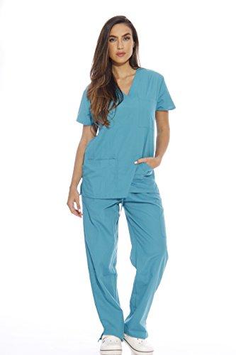 22258V-3X Teal Just Love Women's Scrub Sets / Medical Scrubs / Nursing Scrubs,Teal,3X