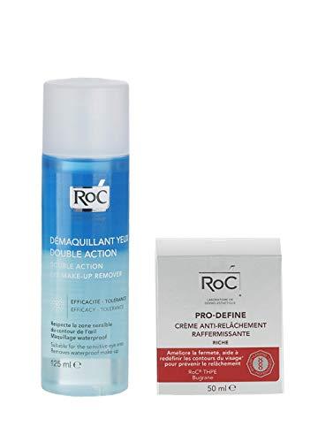 Pack Ahorro Roc Pro-Define Crema Anti-Flacidez + Desmaquillante de OjosBifásico