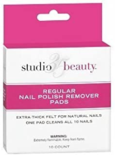 Studio 35 Beauty Regular Nail Polish Remover Pads, 10 ea