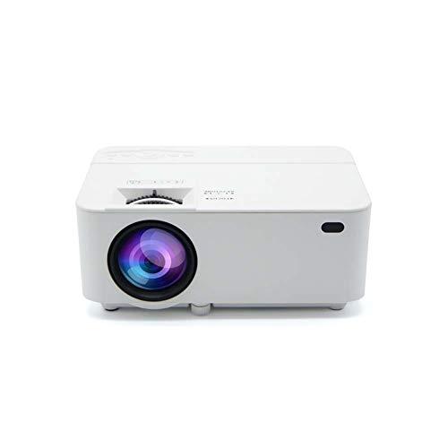 Mankvis - DIY Mini proyector portátil 100 Lumen 1280 * 720P Proyector LED Proyector de Cine en casa Soporta 1080P HDMI/VGA/AV/USB/Micro SD