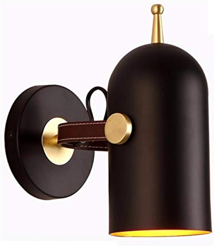 Nordic einfache persnlichkeit leder schmiedeeisen mode wandleuchte wohnzimmer esszimmer schlafzimmer studie modell zimmer hotel wandleuchte