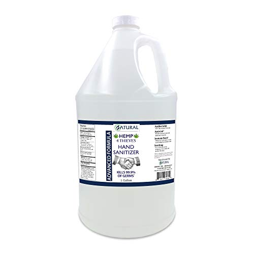 Hand Sanitizer Gel - Bulk Refill Size - 62% Alcohol - 4 Thieves Essential Oil Synergy - NDC Registered (4 Thieves, Gallon)