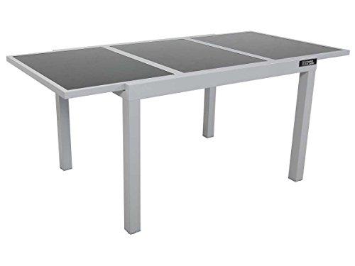 Tavolo da Giardino allungabile in Alluminio Tropic 8 - Phoenix - Argentato