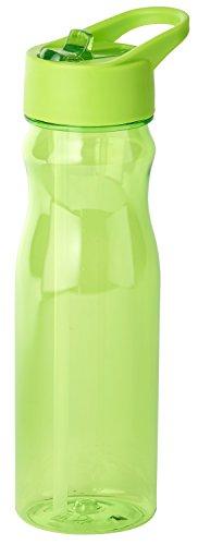 Thermo Rex Trinkflasche CHILL | 708ml | grün | BPA-freier Kunststoff | nahezu bruchsicher u wiederverwendbar | integrierter Strohhalm | Sportflasche