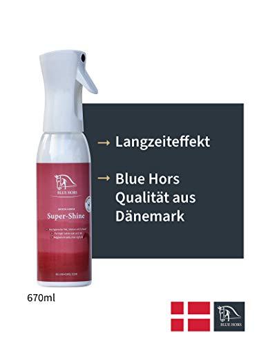 Blue Hors Super Shine Mähnen- und Schweifspray für Pferde 670ml - glänzendes Fell, gepflegtes Langhaar, leichte Kämmbarkeit & Hautverträglichkeit – Pferdepflege, Pferdezubehör