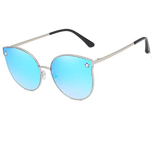 e-phoria Gafas de sol sutiles para ojos de gato   Femenino   Marco de plata/lente de