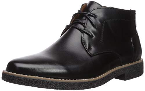 Deer Stags Men's Bangor Chukka Boot, Black/Black, 12 W US