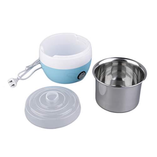 Pgige Yogurt Maker automatico in acciaio inossidabile Contenitore per yogurt delizioso fai da te (blu)