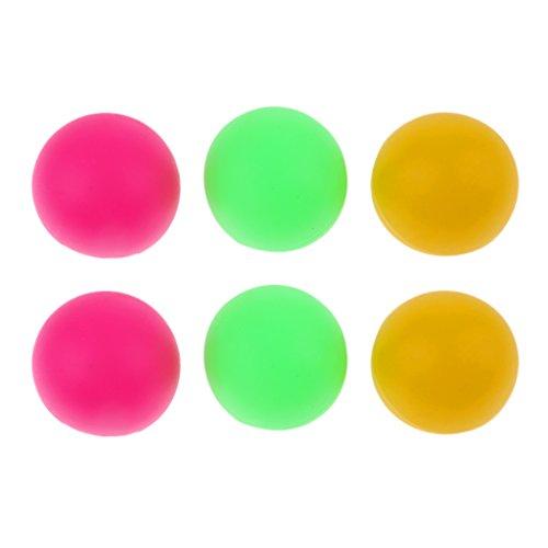 Sharplace 6 bolas de tenis de playa de 36 mm de 36 mm de colores, pelotas de tenis de mesa, 2 tipos de colores A