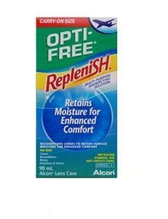 Opti- Free RepleniSH Flight Pack (90ml) Contact Lens Solution by Alcon