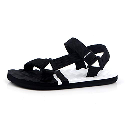 New Summer Fashion Mens Casual Sandals Rome Style Hook-Loop Flats Shoes Black Eva Sandals Zapatos Size 38-44 066m 066M HB White 42