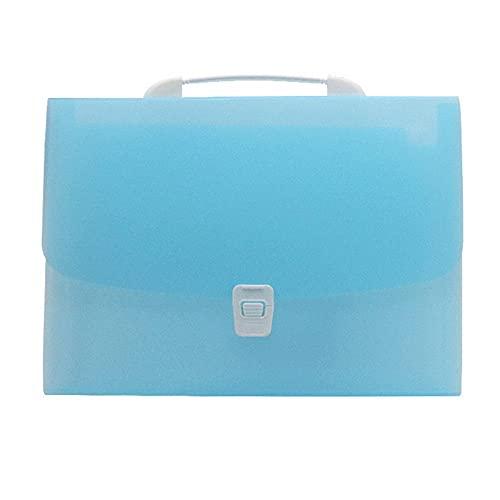 Cartella portadocumenti espandibile A4 con 13 tasche a fisarmonica con manico portatile color caramella in plastica Sorter adatto per ufficio scuola vendite