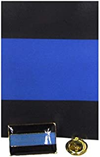 ALBATROS Police Thin Blue Line Lives Matter Back Blue Bike Motorcycle Hat Cap Lapel Pin for Home and Parades, Official Party, All Weather Indoors Outdoors