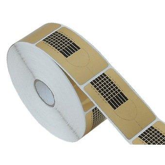 New Nail Art 50 Modellierschablonen Gold Modellier Schablonen zur Nagel Verlängerung, Nagel Design Zubehör Maniküre Tips Test Paket Probe