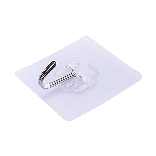 HMG 100 PCS Cocina Baño Colgar de la Pared Transparente Que no Deja Marcas Gancho Pegamento
