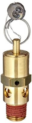 "Control Devices SA Series Brass ASME Safety Valve, 150 psi Set Pressure, 1/4"" Male NPT by Control Devices"