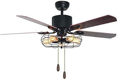 Black Industrial Cage Ceiling Fan