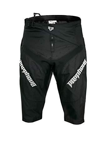 PROPHEUS MTB Shorts Braap schwarz, robust + ergonomisch für Enduro, Downhill, Mountainbike, MTB (36)