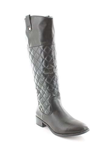 Rampage Women' s Iacapo Black Quilted Leather Boots 9.5 US