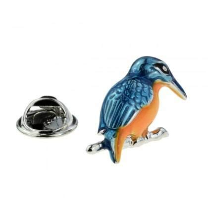 Coloured Kingfisher Lapel Pin Badge