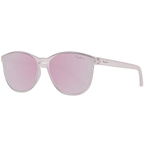 Pepe Jeans Unisex-Erwachsene PJ7285C456 Sammi Schmetterling Sonnenbrille, Transparent (Transparente), 56