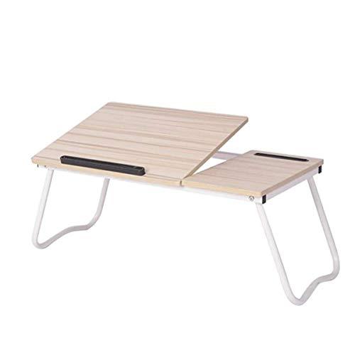 Speldator skrivbord vikbart sängfack 26 tum bärbart skrivbord Justerbart sängbord med förvaringsfack Tablet-telefonhållare (färg: vit, storlek: 79 x 36 x 27 cm) liten