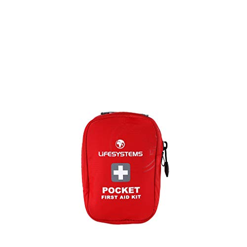 Lifesystems Pocket Firs Aid Kid, Kit di Primo Soccorso Unisex Adulto, Rosso-Rosso