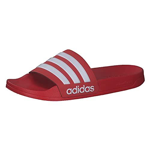 adidas Adilette Shower, Slide Sandal Hombre, Scarlet/Footwear White/Scarlet, 40.5 EU