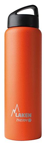 Laken Thermo Classic Thermosflasche Isolierflasche Edelstahl Trinkflasche weite Öffnung - 1 Liter, orange