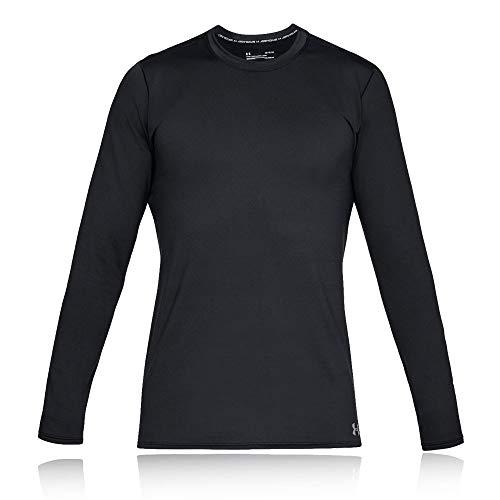 Under Armour Herren Coldgear Crew, warmes Funktionsshirt für Männer leichtes Longsleeve mit enganliegender Passform, Schwarz (Black ), L EU