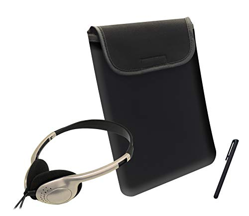 Travel KitColored HeadphonesSleeveand StylusGold CaseworksACC1802Tablet Accessory WIH9D2E